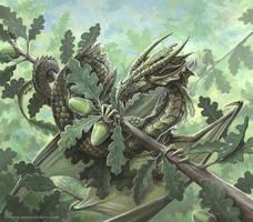 Oak dragon by Ironshod