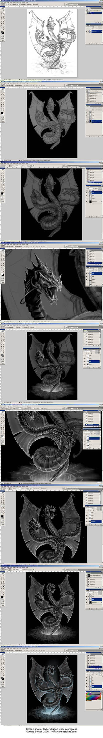 Cyber dragon work in progress