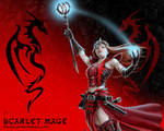 Scarlet Mage wallpaper