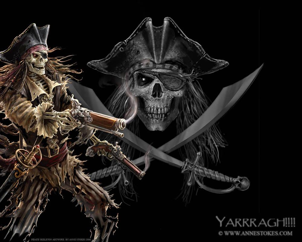 Pirate skeleton wallpaper by Ironshod ...