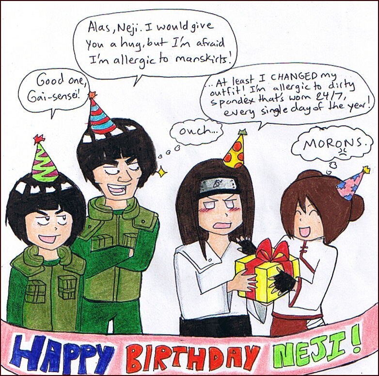 HAPPY BIRTHDAY NEJI. by gejimayo