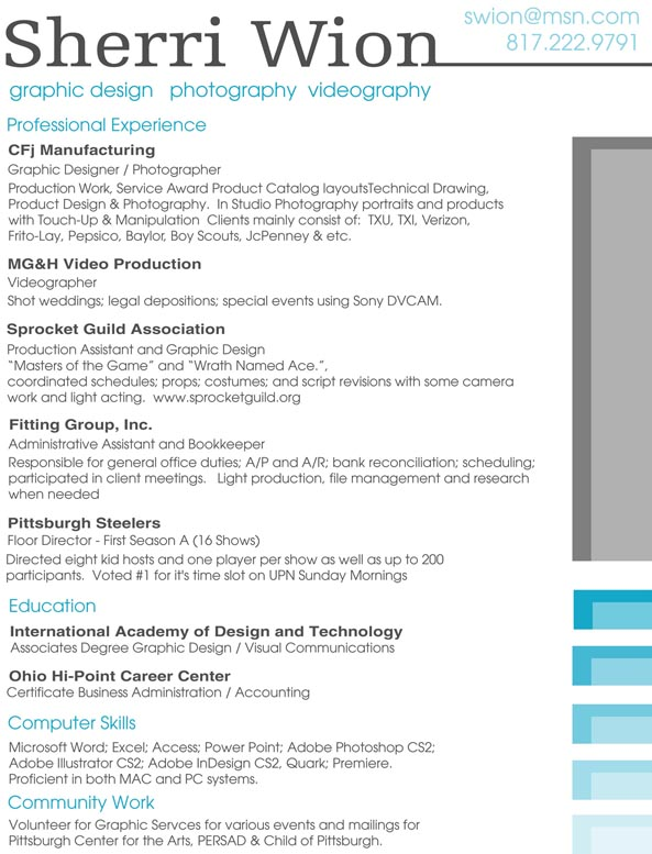 Resume by divineattack