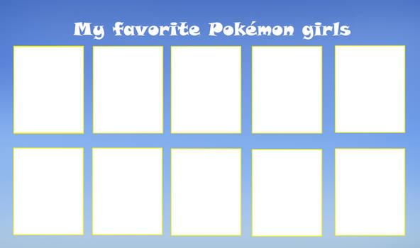 Favorite Pokemon girls meme