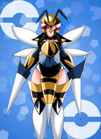 Humanized Mega-Beedrill by Lucky-JJ