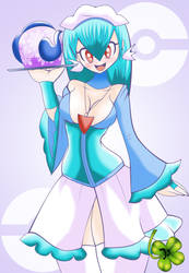 Commission - Maid Humanized Gardevoir by Lucky-JJ