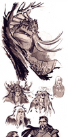 W.I.T.C.H. some doodles