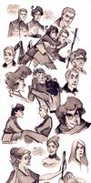 Soldier Side sketchdump by Phobs