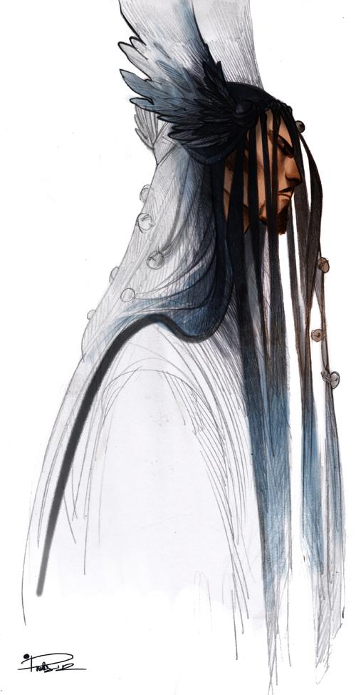 Teb-Tengri the shaman sketch by Phobs