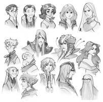w.i.t.c.h. nostalgia Doodles by Phobs