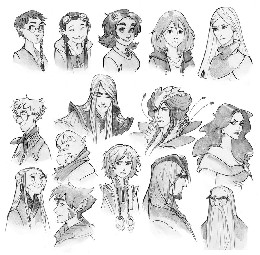 Good Character Design Ideas : W i t c h nostalgia doodles by phobs on deviantart