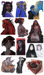 Demonslayer Demons sketchdump