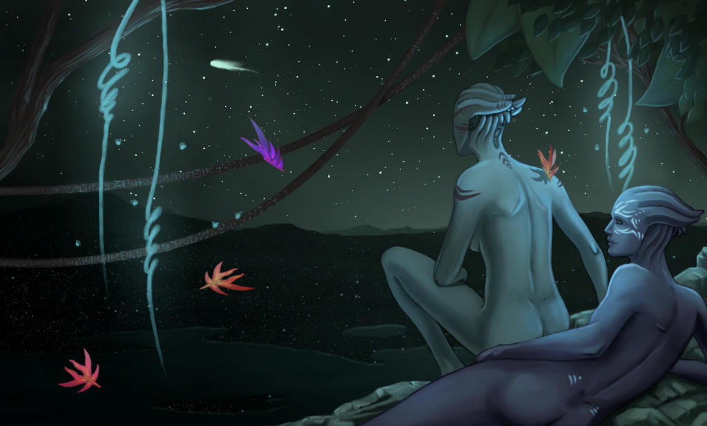 The Ancient Asari by calicoJill