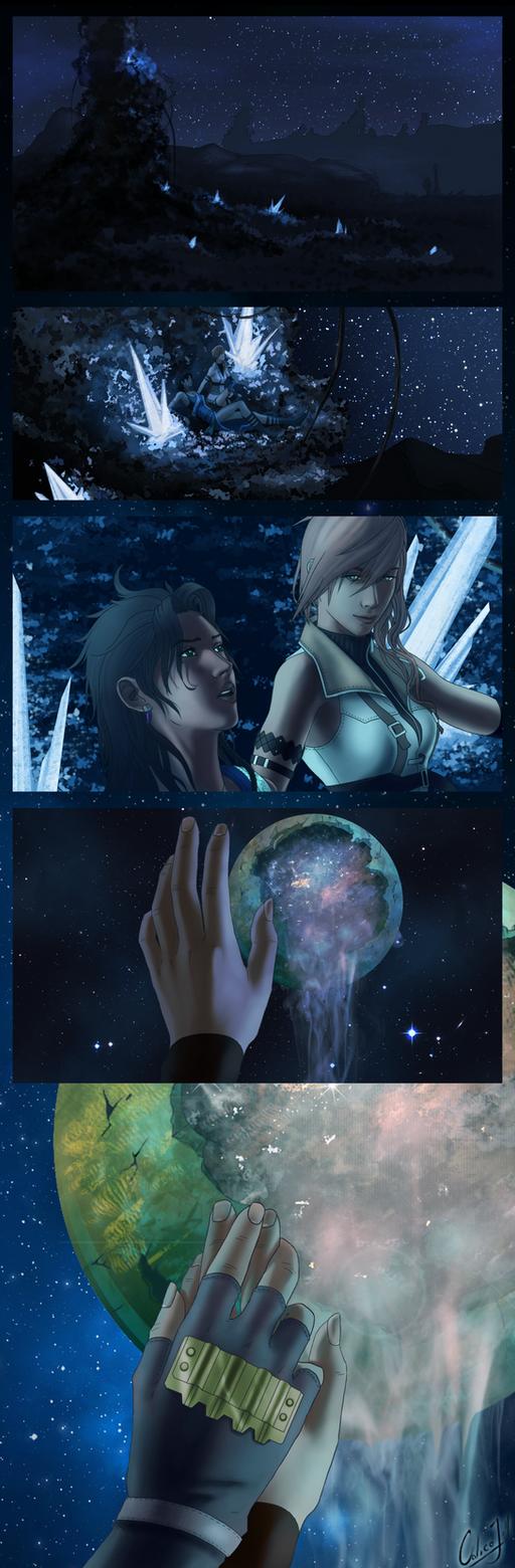 Stargazing on Gran Pulse by calicoJill
