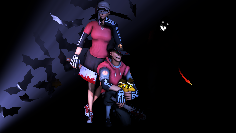 [SFM] Halloween - Creepy Duo by ScAnnReD
