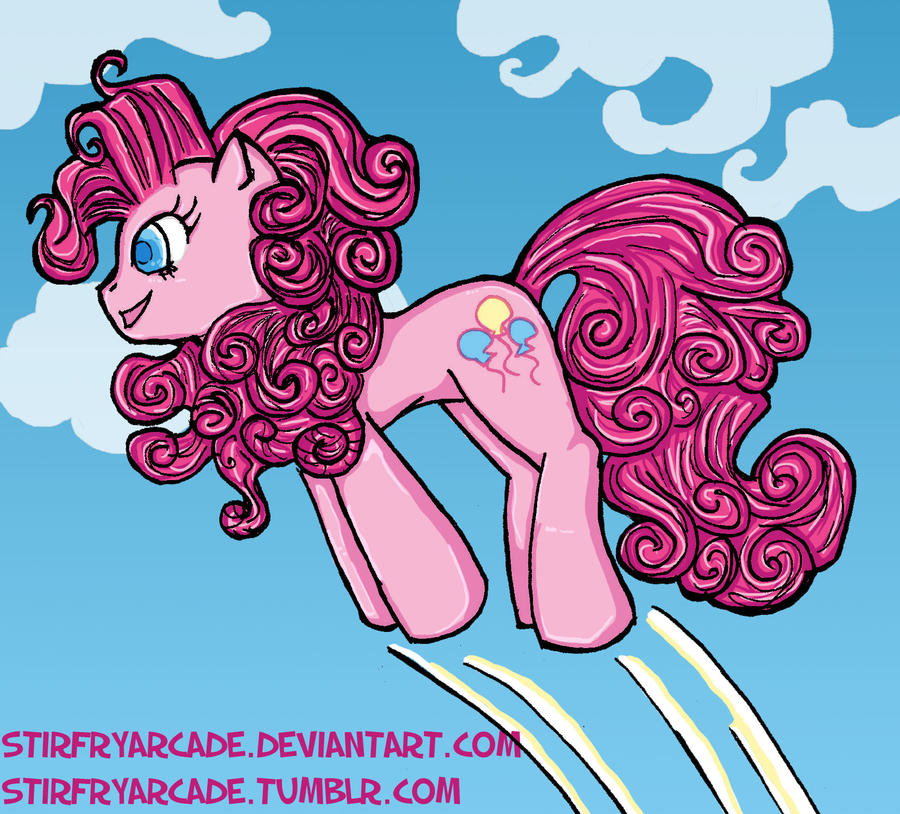 Bouncing Pinkie Pie by stirfryarcade