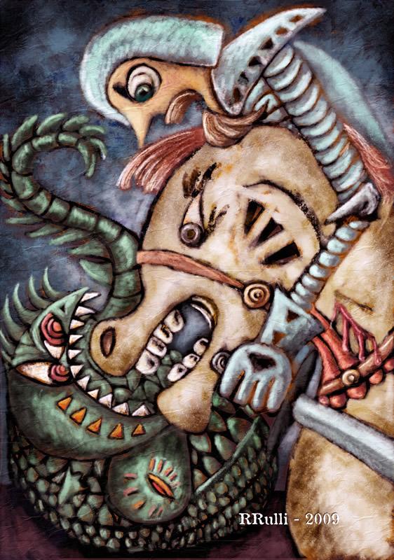 Saint George and the dragon by rrulli