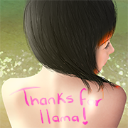 Aya thanks llama by RunicInfiniteSisters