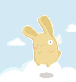 flying fat bunny by rikuto