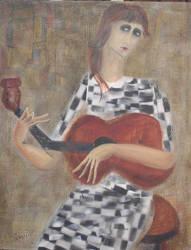Mujer con Guitarra
