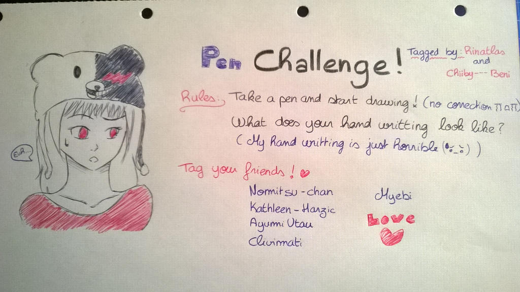 Pen Challenge by FraizySmoothie