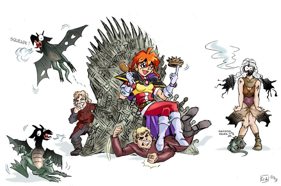 Slayers vs Game of Thrones by DarkKnight81