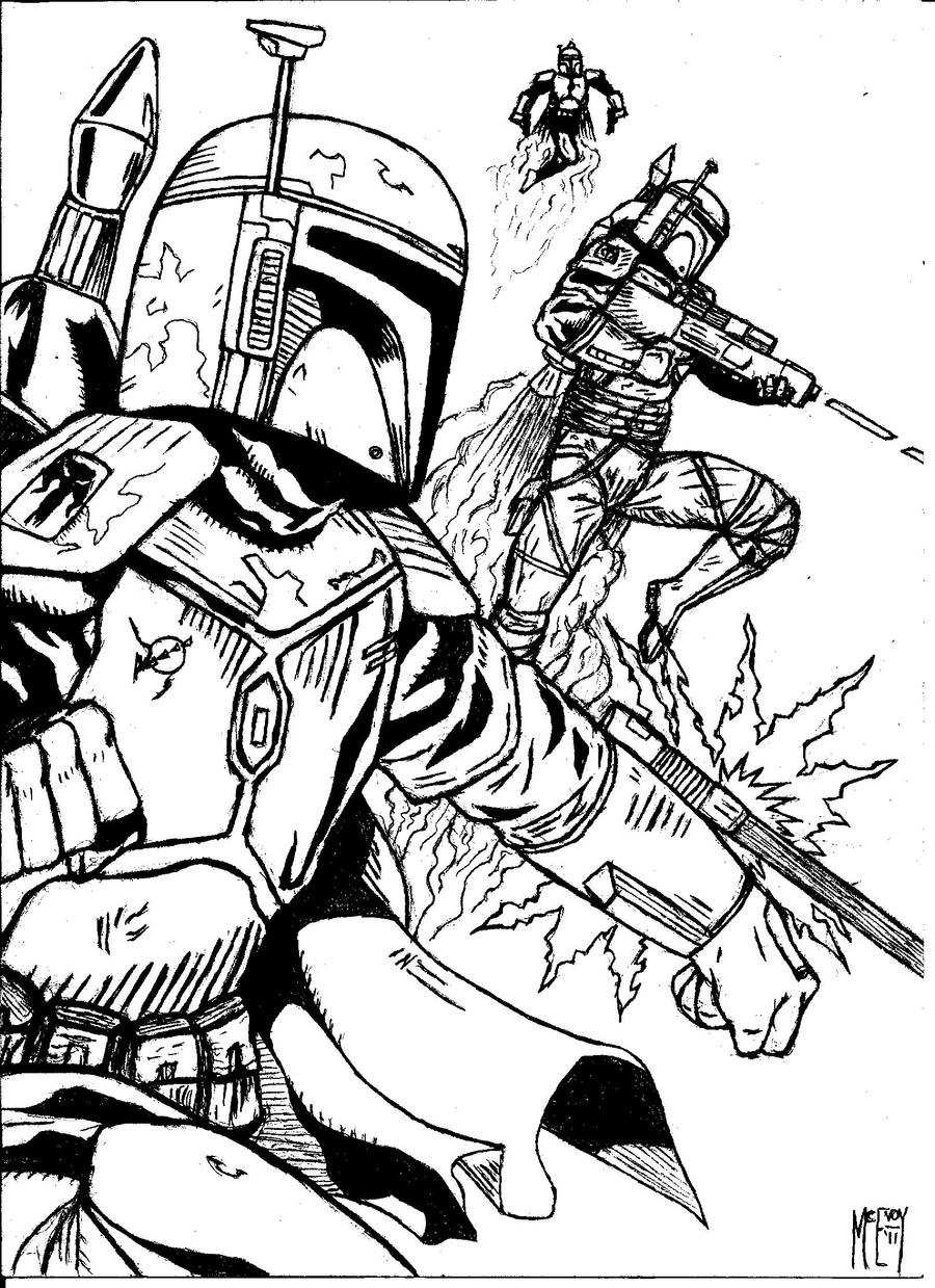 star wars comic book coloring pages   Boba Fett - supercommandos by UGCcomics on DeviantArt