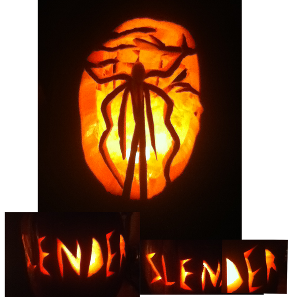 Slender man pumpkin by diehardstormhawksfan on deviantart