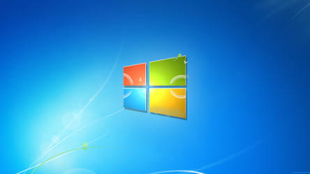 Windows 7 Harmony with the modern logo by CheezeyGaming