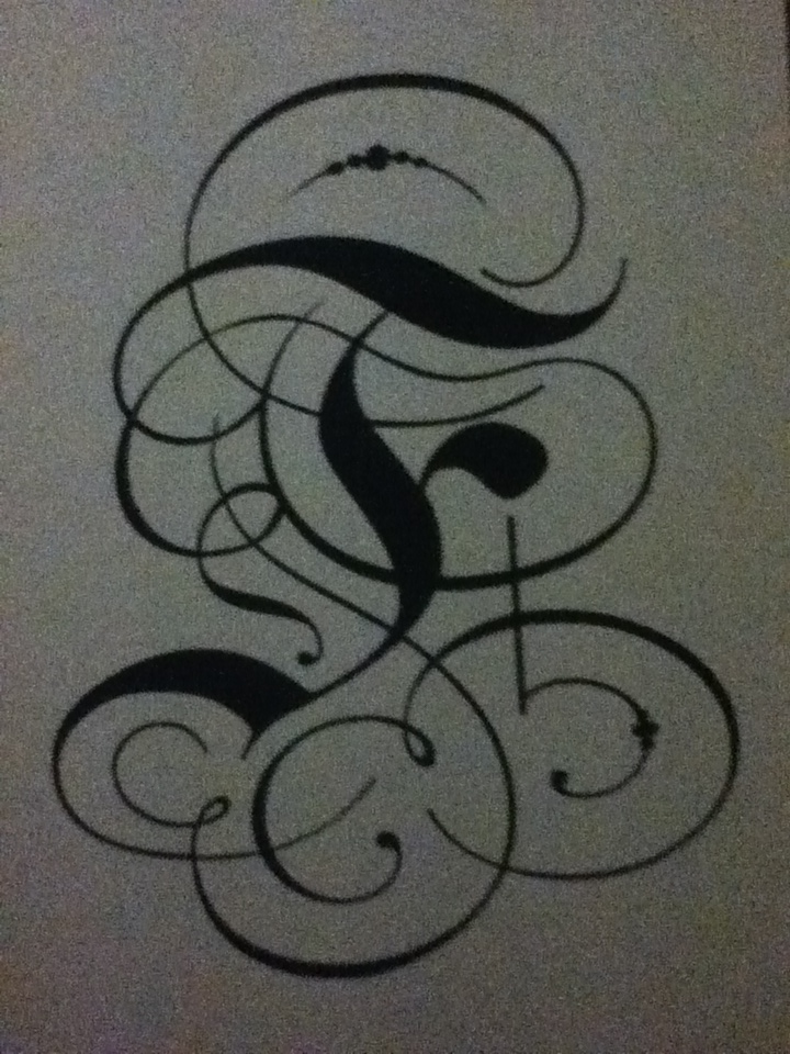 Calligraphy Letter 39 F 39 By Eruwaedhiel7 On Deviantart