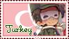 Turkey Pastel Stamp by Angelinia