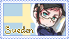 Sweden Pastel Stamp by Domovina