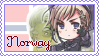 Norway Pastel Stamp by Domovina