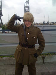 Salute You Sir :APH England Cosplay: by TailSwinger