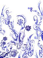Blue flowers by Dessins-Fantastiques