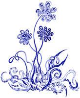 Blue flowers 3 by Dessins-Fantastiques