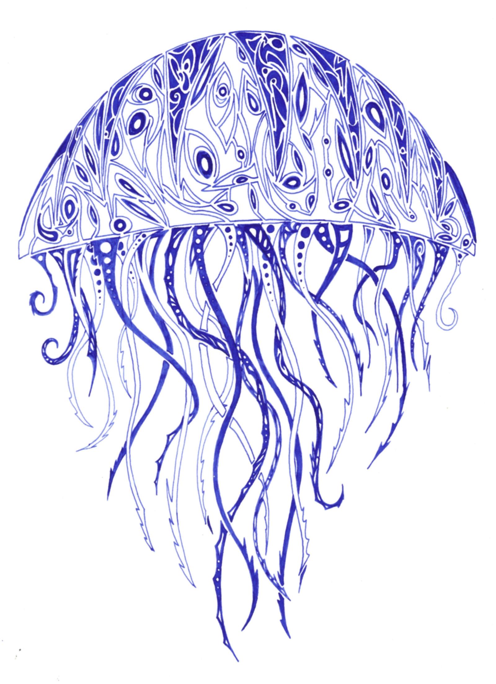 Jellyfish Henna Tattoo Design