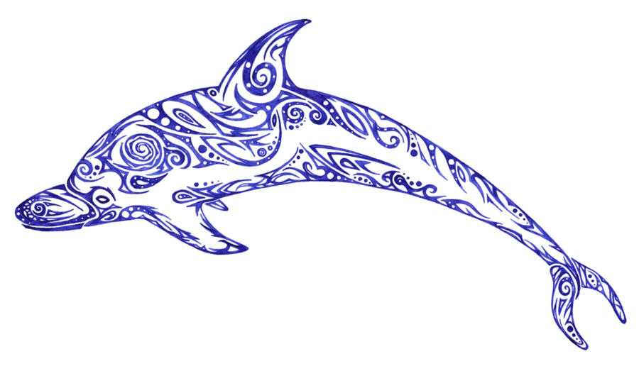 Tribal dolphin by Dessins-Fantastiques