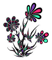 Tribal flowers by Dessins-Fantastiques