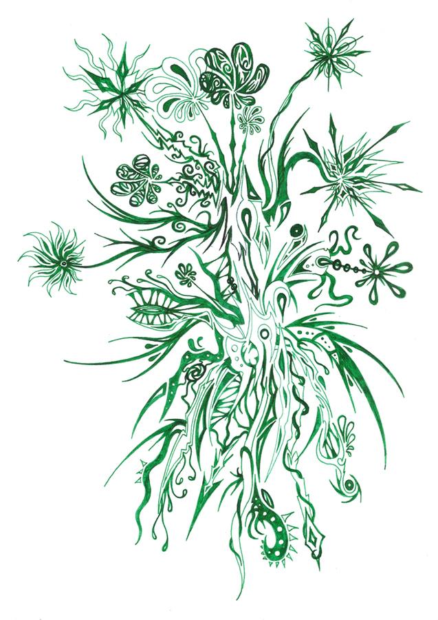 Plantes 2 dessins fantastiques for Plantes vertes a fleurs