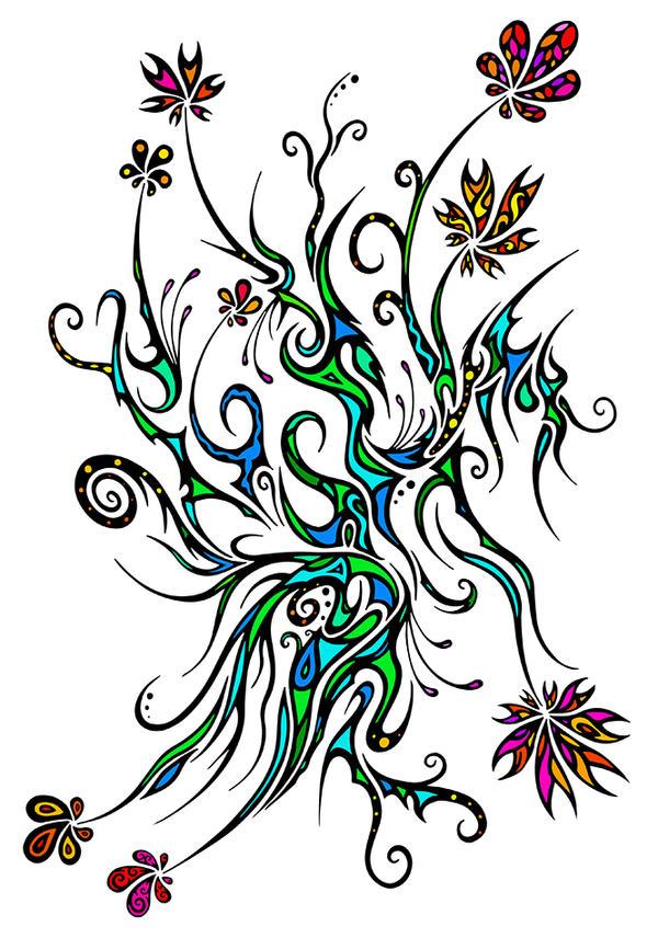 Flowers again ^^ by Dessins-Fantastiques