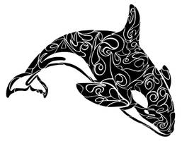 Tribal Orca by Dessins-Fantastiques