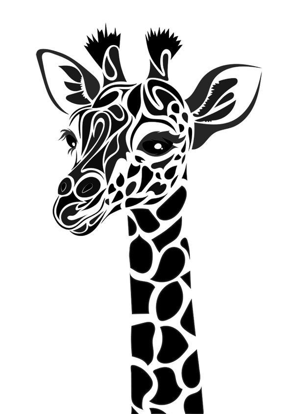 Tribal giraffe tattoo - photo#1