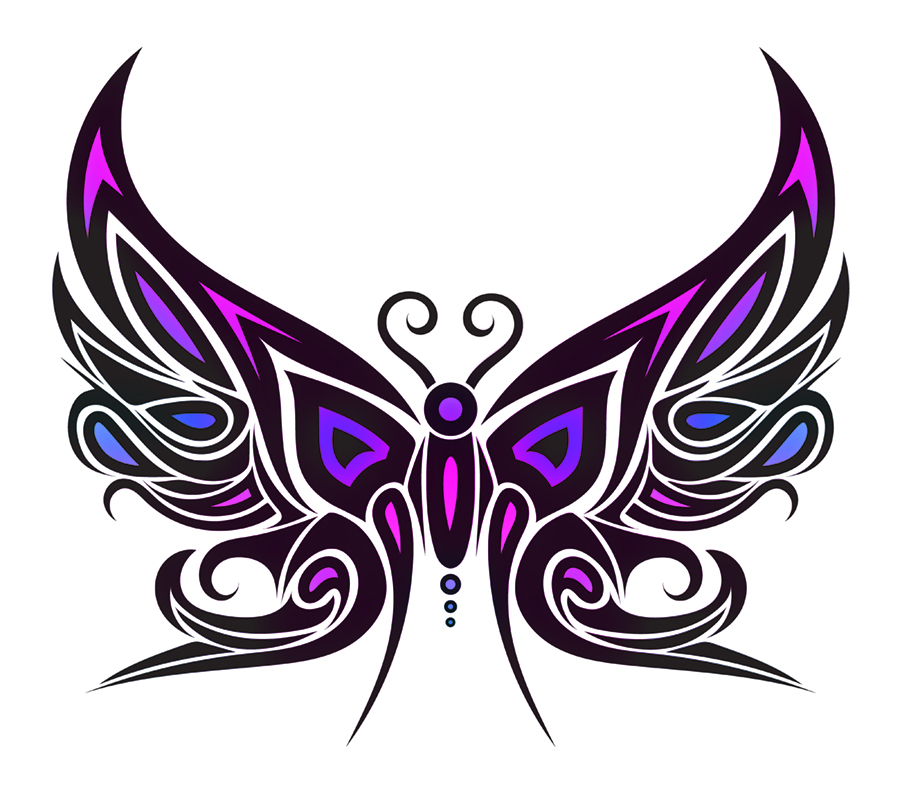 tribal butterfly drawings - 900×788