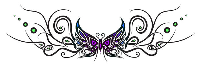 fc7f90d20 ... Tattoo design : butterfly 1 by Dessins-Fantastiques