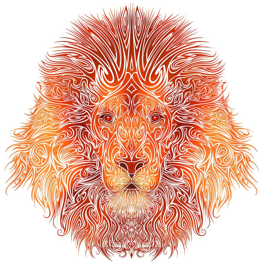 Tribal Lion by Dessins-Fantastiques on DeviantArt