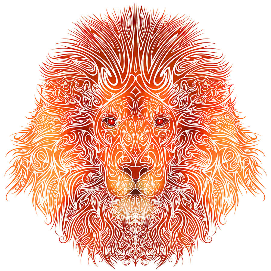 Wallpapers Tribal Animals Animal Tattoo 1024x1024: Tribal Lion By Dessins-Fantastiques On DeviantArt