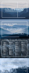 Golden Ratio Typeface by Dessins-Fantastiques