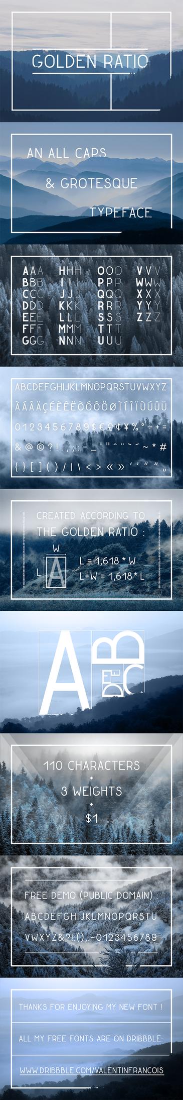 Golden Ratio Typeface by Dessins-Fantastiques
