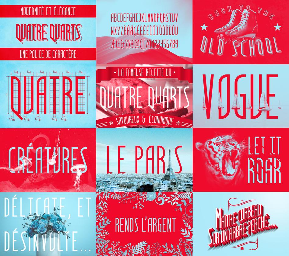 Quatre Quarts - free font by Dessins-Fantastiques