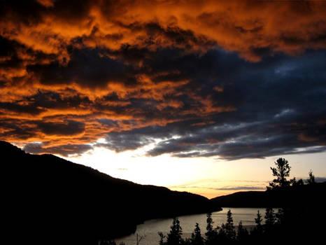 Sunset on Hidden Lake, Alaska